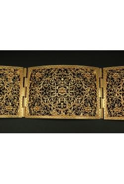 Bijou oriental ceinture arabesque en plaqué or