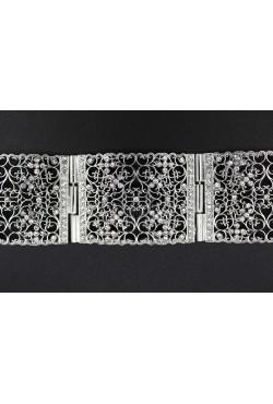 Bijou oriental ceinture en plaqué argent rhodié
