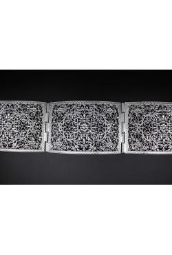 Bijou oriental ceinture en plaqué argent arabesque