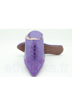 Babouche violette