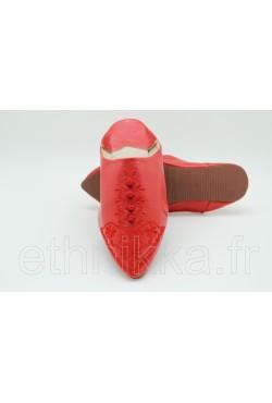 Babouche rouge fushia