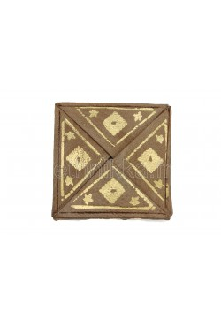Porte monnaie en cuir carré