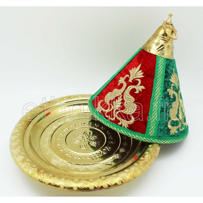 plateau marocain sur pied vendu avec une cloche. Black Bedroom Furniture Sets. Home Design Ideas