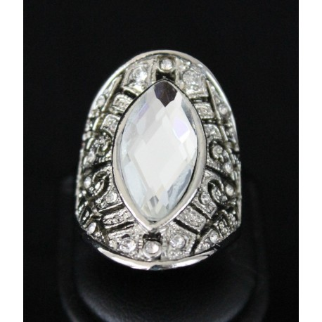 Bague bijou oriental original en plaqué argent