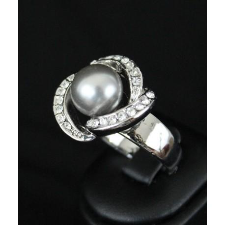 Bague bijou oriental en plaqué argent original