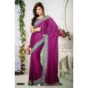 Sari violet et turquoise