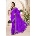 Sari indien violet tenue indienne