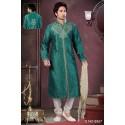 Tenue indienne sherwani turquoise