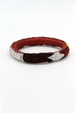 Bijou ethnique africain bracelet en cuir et perles