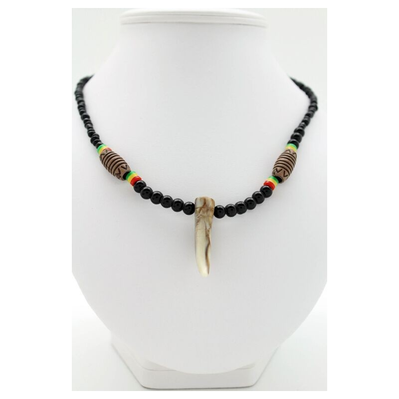 collier africain perle homme