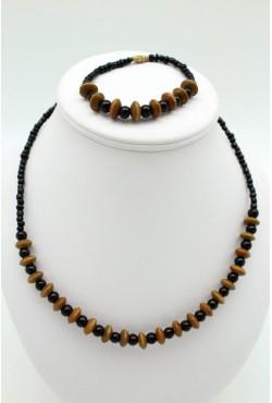 Collier et bracelet bijoux ethniques