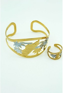 Bracelet madagascar plaqué or argent
