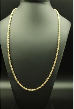 Sautoir longue chaîne dorée