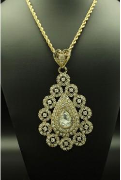 Bijoux orientaux goutte plaqué or