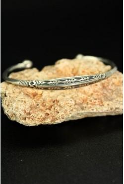 Bracelet bijou ethnique Touareg ciselé