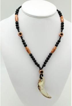 Collier ethnique pointe en forme d'éléphant bijou africain