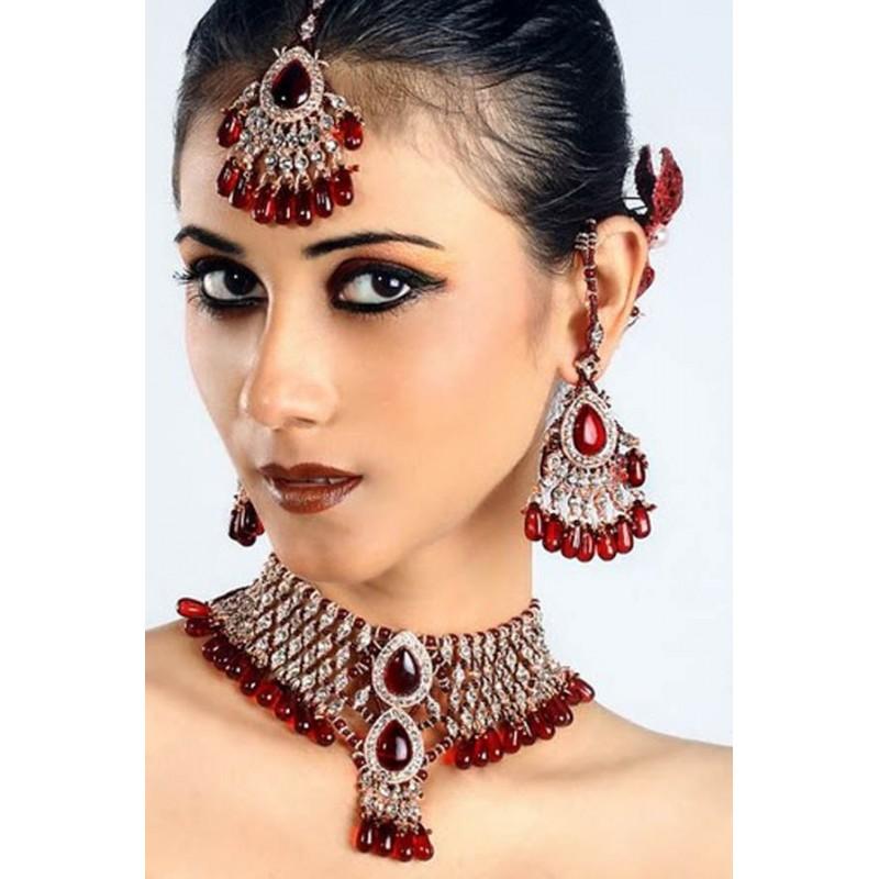acheter parure bijoux indiens mariage pas cher femme. Black Bedroom Furniture Sets. Home Design Ideas