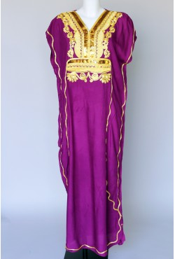 Djelaba violette et dorée