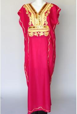 Djellaba rose et dorée