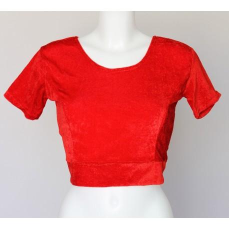 Bustier pour sari rouge