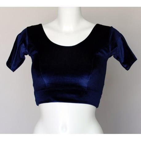 Bustier pour sari bleu marine