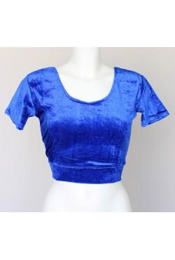 Bustier pour sari bleu électrique