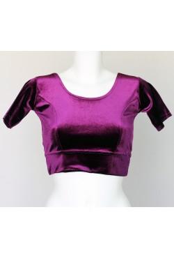 Choli bustier violet