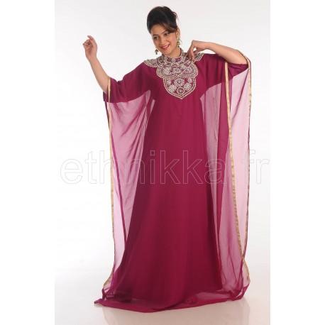 Robe Dubaï framboise