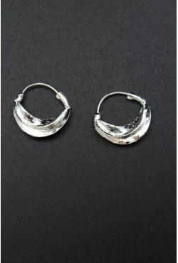 Bijoux créoles orientales pour femme en plaqué argent