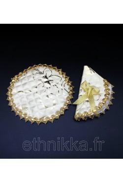Accessoires à théière doré