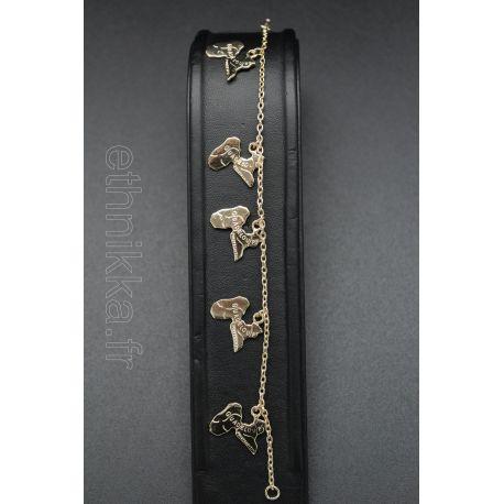 Bracelet Guadeloupe plaqué or