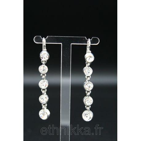 Boucles d'oreilles pendantes argent
