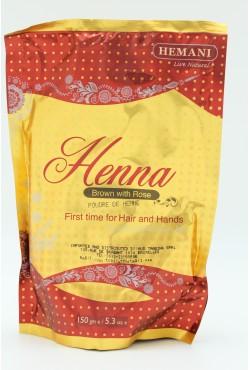 Hemani henné en poudre pour peau et cheveux marron rose