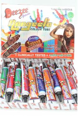 Tubes henné Deezee multicolore tatouage main indien mehndi