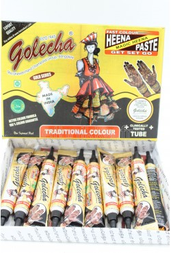 Tube Golecha henné noir tatouage main