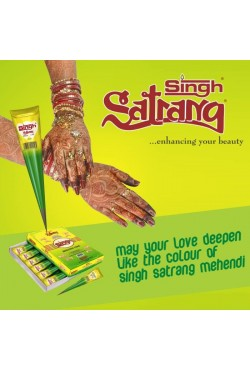 Cone henné naturel Singh Satrang tatouage main indien henna marron