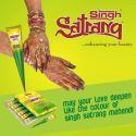 Cone henné naturel Singh Satrang tatouage main indien henna marron