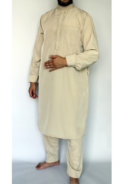 Djellaba ZEIN manches longues blanc