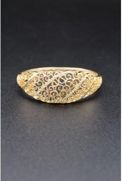 Bracelet en plaqué or zircons bijou oriental