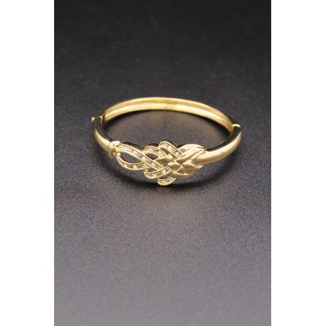 Bracelet en plaqué or design tressage