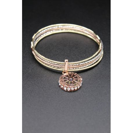 Bijou oriental semainier bracelet en or plaqué
