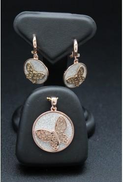 Parure bijoux orientaux en plaqué or rose