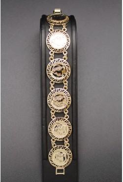 Bracelet grands médaillons napoléon III