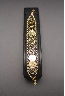 Bracelet petits médaillons napoléon III plaqué or