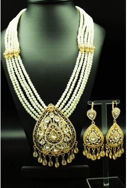 Parure de perles bijoux orientaux goutte en plaqué or