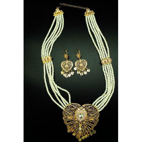 Parure bijoux orientaux coeur