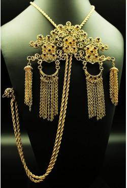 Kravach trois têtes plaqué or
