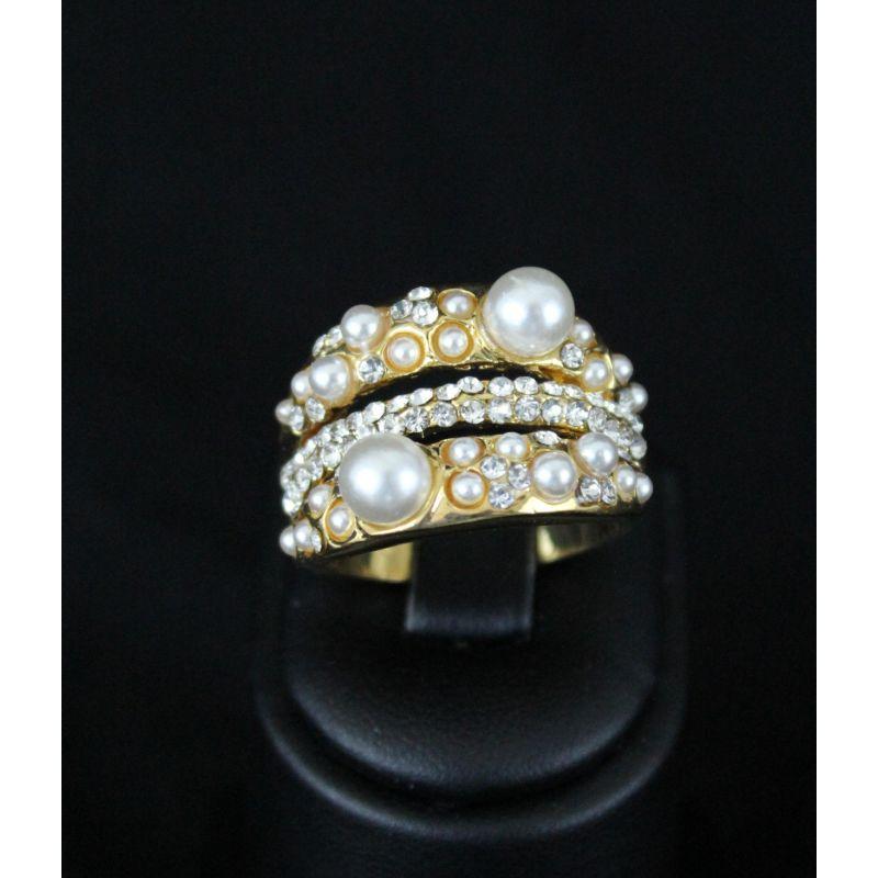 bague bijou oriental plaqu or orn e de perles et de pierres. Black Bedroom Furniture Sets. Home Design Ideas
