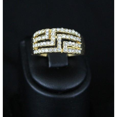 Bague bijou oriental en plaqué or strass