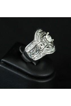 Bague bijou oriental plaqué argent sertie d'une grosse pierre